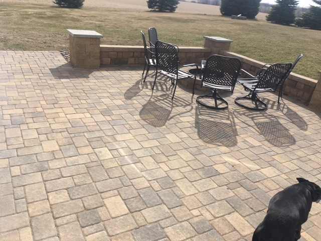 Paver Patio, Seat Wall, Firepit