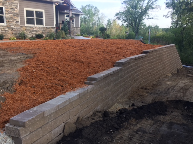 Finished Wall & Mulch